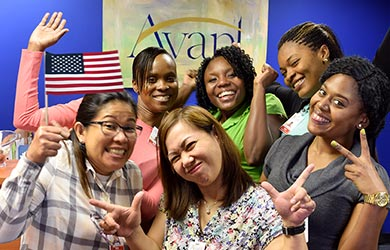 registered nurses having fun in the USA