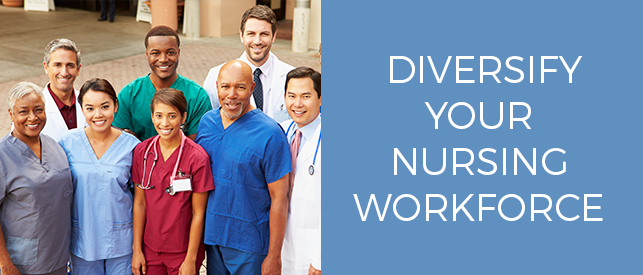 Diversification is one answer to the nursing shortage.