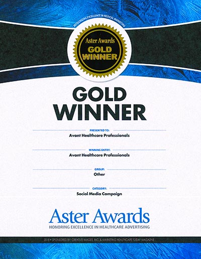 Avant Healthcare Professionals Awarded Gold in Best Healthcare